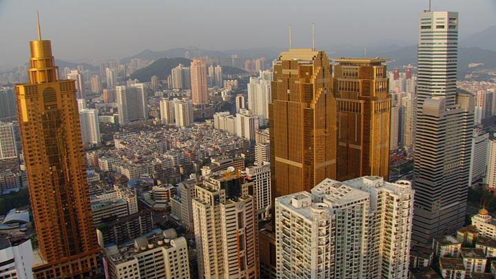 深圳罗湖的摩天大楼