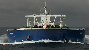 Ushant航线上的运油轮船(法国)