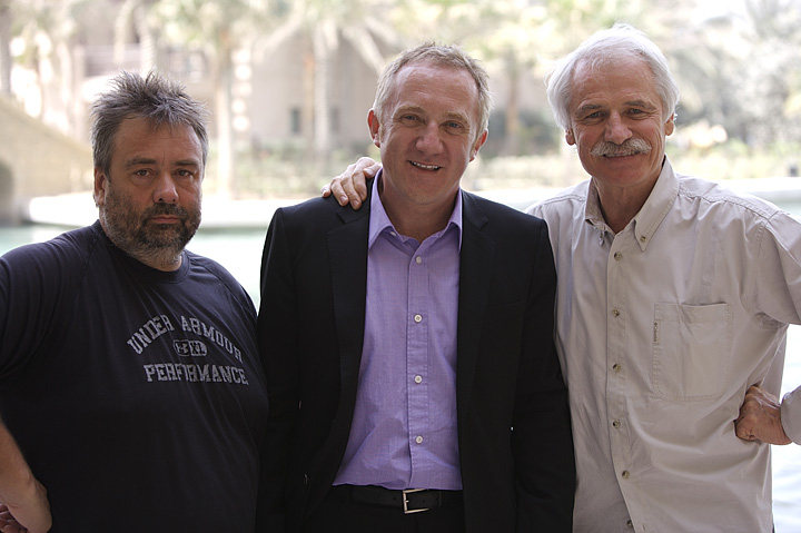 制片人Luc Besson (吕克·贝松), 巴黎春天集团老板Francois-Henri Pinault, 导演Yann Arthus-Bertrand